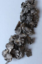 Antique Silver ~ Gold Orchid Artificial Flower Spray - Large (80cm) 83-9228