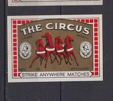 Ancienne  étiquette   allumettes  Belgique   AZ4103   Circus   Cheval 51