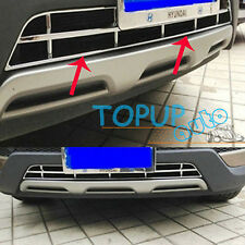 FIT FOR HYUNDAI SANTA FE FRONT BELOW BUMPER CENTER GRILLE VENT CHROME COVER TRIM