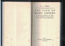 H G Wells SIGNED The Fate of Homo Sapiens First Edition 1939 Association Copy