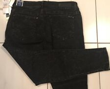 Womens Seven 7 Skinny Black Legging Jeans Sz 12  33 / 35 W  28 L Stretch  NWT