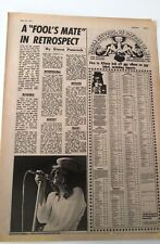 PETER HAMMILL Fools Mate review 1971 UK ARTICLE/clipping Van Der Graaf Generator