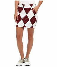NWT Loudmouth golf SKORT skirt MAROON AND WHITE MEGA  Size 8  2674