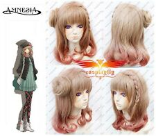 Amnesia Heroine Cosplay Costume party brown Wig + Wig Cap Free Shipping