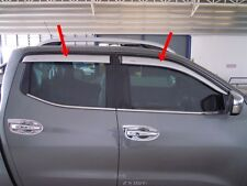 Silver Weather Guard for Nissan Navara NP 300 2014-2016 Double Cab Set of 4
