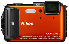 Nikon Coolpix AW130 16.0-Megapixel Digital Camera Orange Brand New