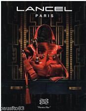PUBLICITE ADVERTISING 105  2009  LANCEL  collection sac PREMIER FLIRT