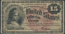 Fr1267 15¢ 4Th Issue Fractional Note Vf+ Watermarked Paper Br5927