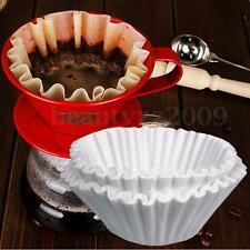 100pcs White Coffee Filter Papers For Brewer Espresso Maker Dripper Machine 24CM