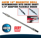 "40cm 16"" Magnetic Drill Screwdriver Bits Drive Snake Shaft 1/4"" Adaptor Flexible"