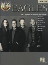 Eagles Bass Guitar Play-Along TAB Music Book with CD Vol 49 Hotel California