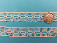 """French Heirloom Cotton Lace Beading 5/8""""Wide Ivory Fashion/Craft/Doll Lace 6208I"""