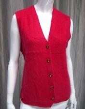 FLOWER CROWN MOHAIR SWEATER VEST SIZE M, HOT PINK