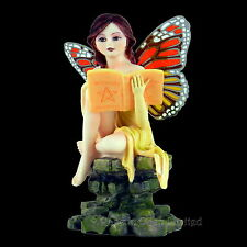 *WENDI* Butterfly Winged Fairy Sage & Spell Book Figurine (13.5cm)