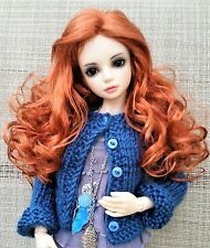 Monique Ginger Wig 6/7 for BJD Iplehouse Kish Ellowyne Evangeline Carrot Red