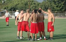 Shirtless Male Muscular Football Sports Jocks Practice Group PHOTO 4X6 C797