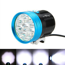 20000LM 9X XM-L T6 LED Blue Only Head Front Bicycle Light Mountain Bike Headlamp