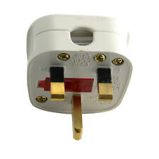 Travel 250V 3 Pin Power Cord Connector UK Plug Rewirable Converter With Switch