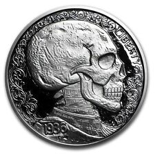 2016 1 oz Skull & Scrolls Silver Round Hobo Nickel Series with COA