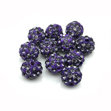 Wholesale Micro Pave Disco Crystal Shamballa Beads Bracelet Spacer 8MM 10MM 12MM