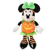 MINNIE MOUSE HALLOWEEN PLUSH IN PUMPKIN COSTUME NWT AUTHENTIC DISNEY STORE PATCH