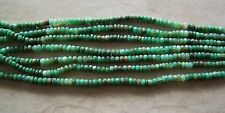 "14"" Strand Natural Chrysoprase Gemstone Faceted Rondelle Beads 5mm-6mm"