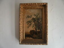 Signed Antique Oil Painting on Academy Board