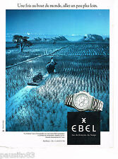 PUBLICITE ADVERTISING 065  1996  EBEL  montre  LE MOLUDOR