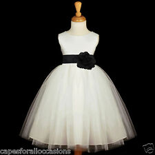 WHITE CHRISTMAS HOLIDAY PARTY TIEBOW FLOWER GIRL DRESS PAGEANT 12-18M 2 4 6 8 10