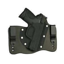 FoxX Leather & Kydex IWB Hybrid Holster S&W M&P Compact 9,40 & 45 Black Right