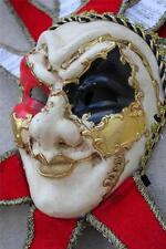 Mardi Gras Mask Wall Decor New Red Gold Venetian Jester Joker Mask Masquerade
