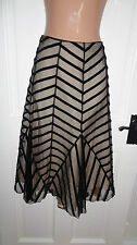Stunning Coast Black & Gold Lined Skirt, UK 8 10, Excellent Condition. REDUCED!!
