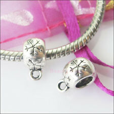 10 New Charms Tibetan Silver Connector European Bail Beads Fit Bracelet 8.5x12mm