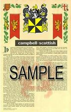 CAMPBELL Armorial Name History - Coat of Arms - Family Crest GIFT! 11x17