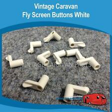 Caravan FlyScreen Clips White x 10 Vintage Viscount, Franklin, Millard,York