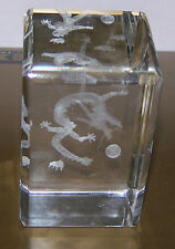"""Laser Etched 3-D Paperweight - DRAGON - 3""""x2""""x2"""" - Boxed"""