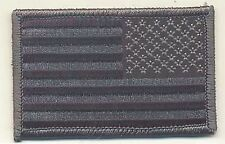 "2""x3 1/4"" Reverse ACU Black Gray United States US Flag Embroidered Patch"