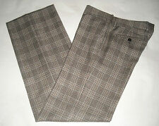 MAURO GRIFONI virgin wool trousers pantaloni donna classici lana quadri 42 IT