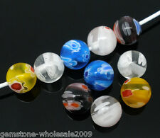 Wholesale Mixed Millefiori Glass Lampwork Beads 8mm
