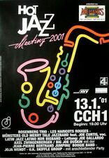 HOT JAZZ MEETING - 2001 - Konzertplakat - Wendt - Zwingenberger - Hamburg