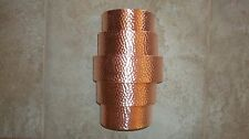 Hand crafted Hammered Copper Wall Sconce - Theater Light - Porch Light Fixture