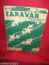 DUKE ELLINGTON Caravan 1938 Spartito Music Sheet Testo in italiano SUVINI/ZERBON