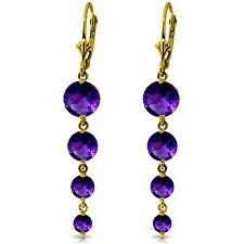 7.8 Carat 14K Solid Gold Drizzle Amethyst Earrings
