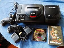 SEGA 16 BIT GENESIS CD CONSOLE,WITH 2 CONTROLLERS,2 GAMES,AC,AV BUNDLE