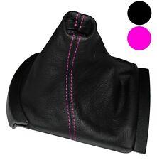 Soufflet de levier vitesse noir CUIR coutures roses pour Seat Ibiza 2002-2008