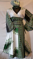 women's Clothing African Long Dashiki Print Wrap around Maxi Derss Free Size