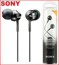 SONY MDR-EX110LP BLACK In-Ear Earbud Stereo Headphones with Deep Bass /Brand New