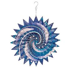LARGE METAL WIND SPINNER SUN CATCHER HANGING GARDEN ORNAMENT GALAXY 12""