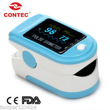 CONTEC CMS50D SPO2 Saturation Monitor Oximeter with Rubber case Oximetro De Dedo