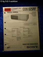 Sony Service Manual CDX 525RF CD Changer (#4214)